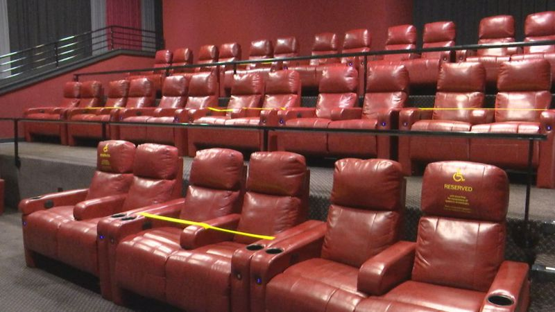 Movie theaters take safety precautions, blocking off every other pair of seats