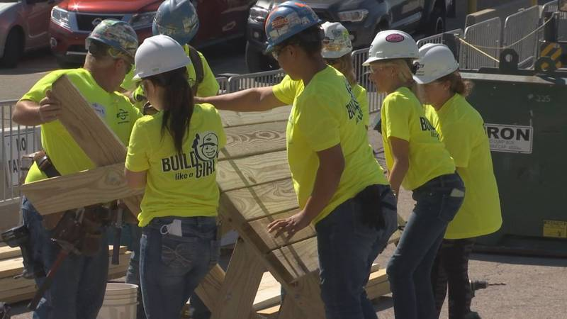 Only 3% of the construction industry is made up of women which is a statistic Miron...