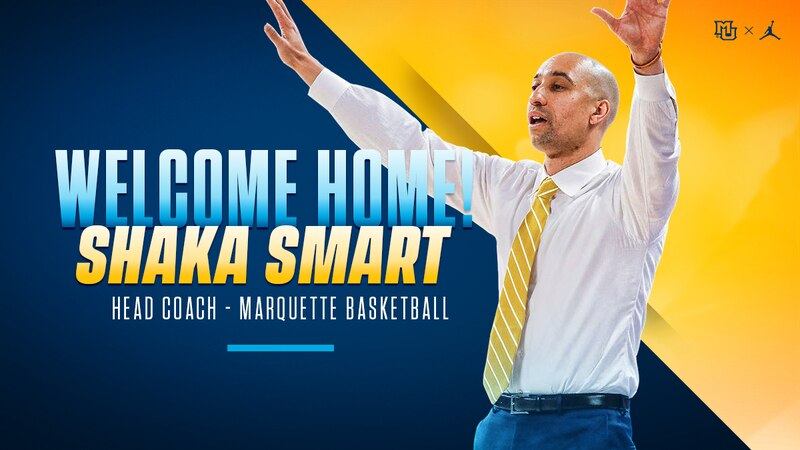 Marquette hires Shaka Smart as the program's 18th basketball head coach in its history.