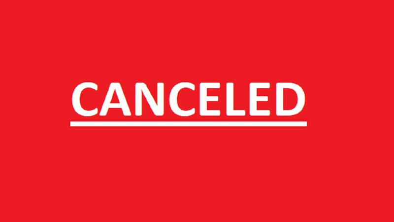 Event canceled.