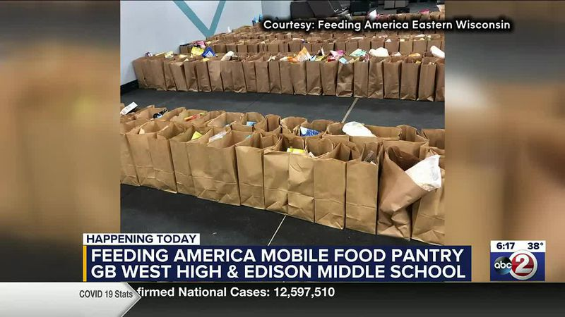 Feeding America Eastern Wisconsin will distribute 30 pounds of food to each family at its...
