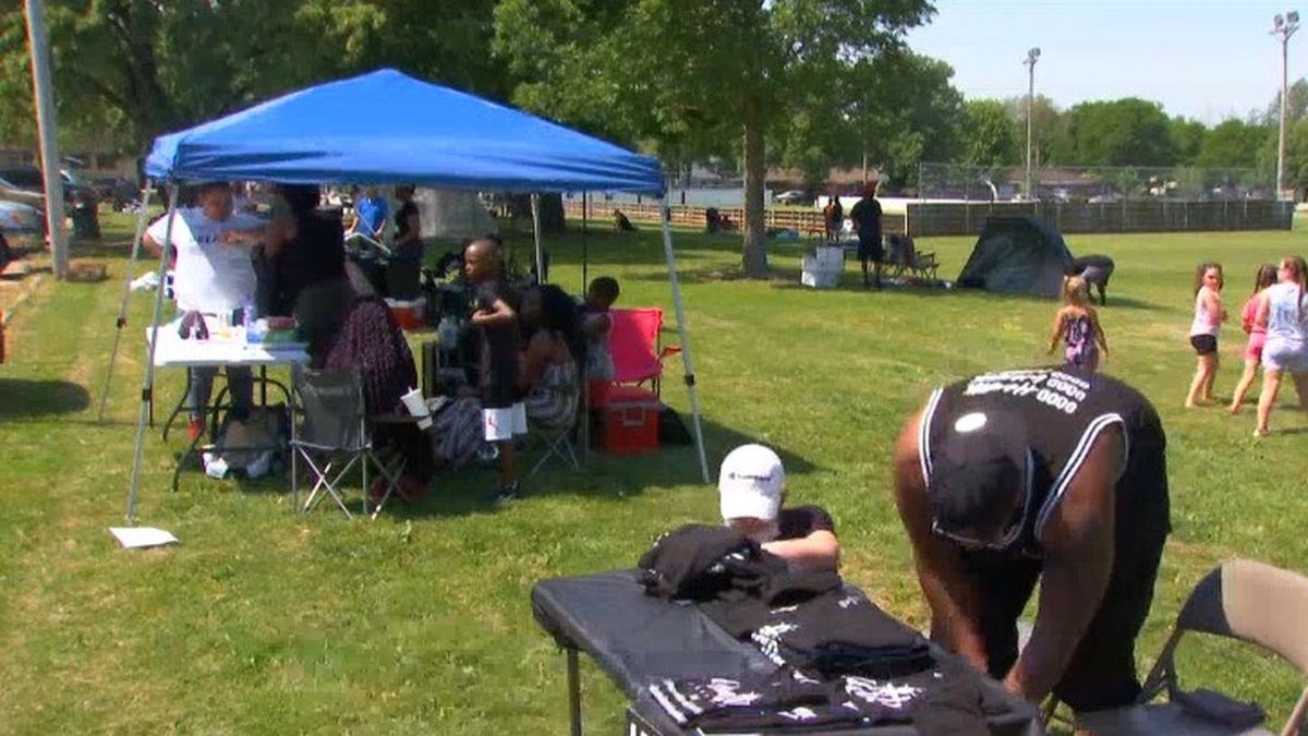 Black-owned businesses are a focus of the Juneteenth event in Green Bay. June 19, 2020 (WBAY Photo)