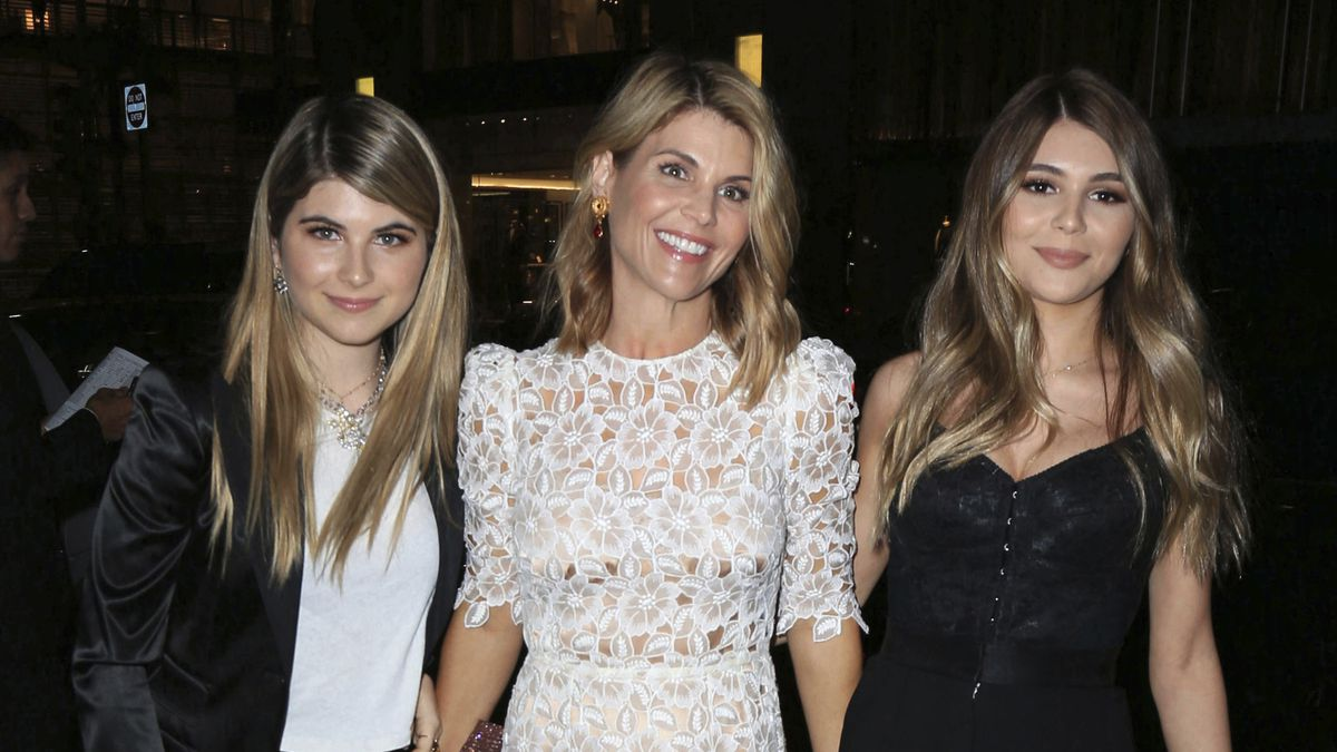 Lori Loughlin with her daughters Isabella Rose Giannulli and Olivia Jade Giannulli are seen in...