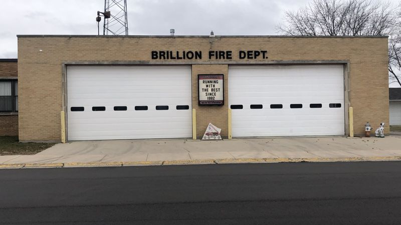 The exterior of the Brillion Fire Department.