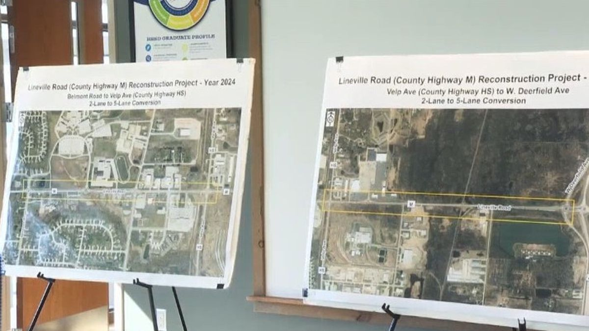 Lineville Road project maps. March 4, 2020. (WBAY Photo)
