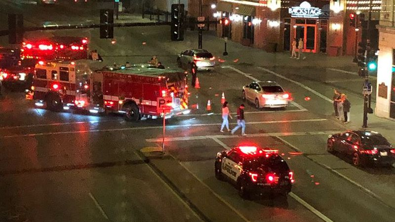 GBPD Squad and another vehicle collide at downtown intersection
