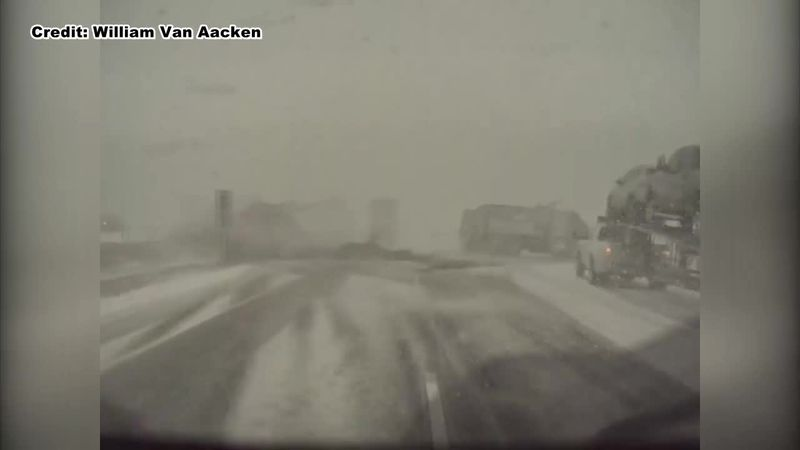 Dash camera video shows pileup on I-41 near Slinger