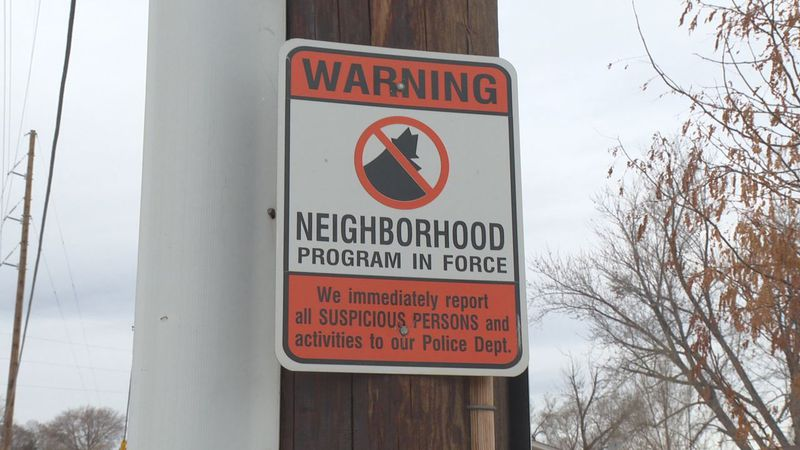 These signs are placed throughout a South Rapid City Community whose Neighborhood Watch...