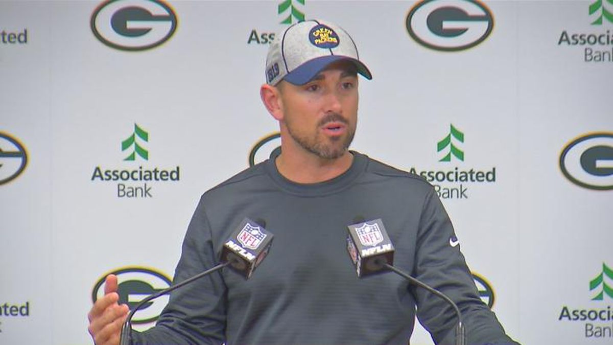 Packers Head Coach Matt LaFleur addresses the media on Wednesday afternoon.