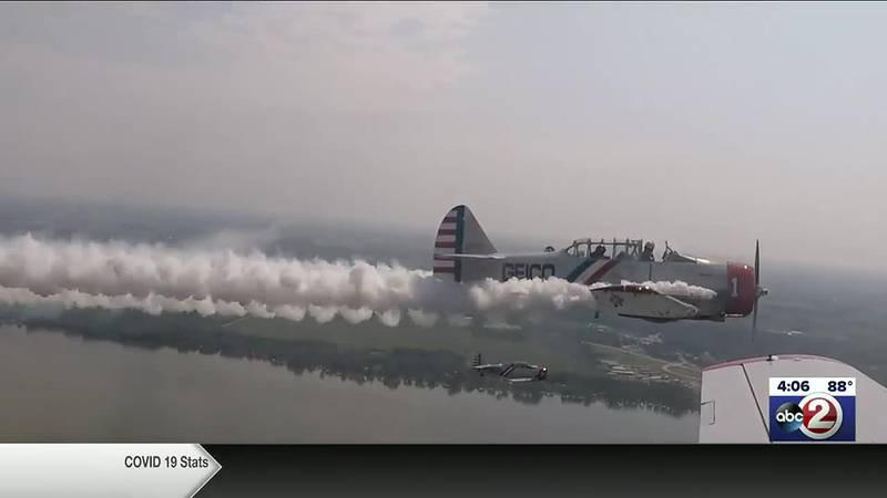 SkyTypers in flight during EAA AirVenture in Oshkosh