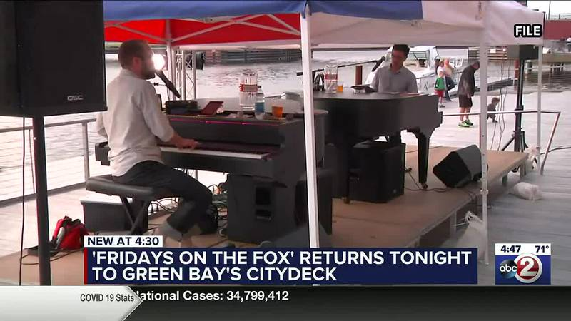 Dueling pianos on CityDeck for Fridays on the Fox