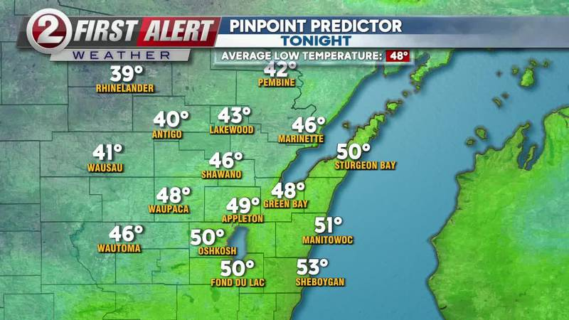 First Alert Forecast: Cool and clear tonight, and what to expect on the 1st day of fall!