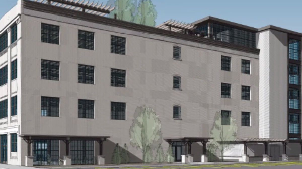 Artist concept for the Miles Kimball building renovation (image provided)