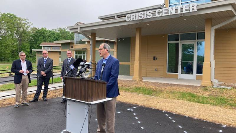 Brown County Executive Troy Streckenbach announces the completion of a new $2.2 million Crisis...