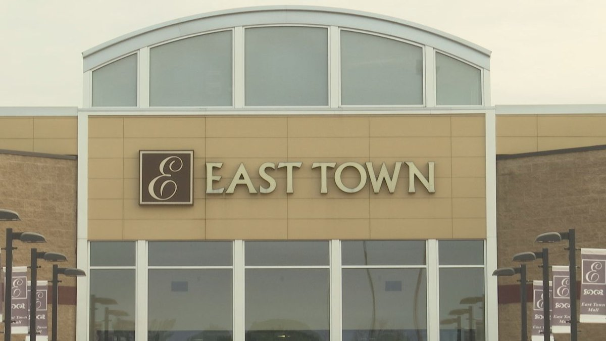About 14 acres of the East Town Mall is for sale.
