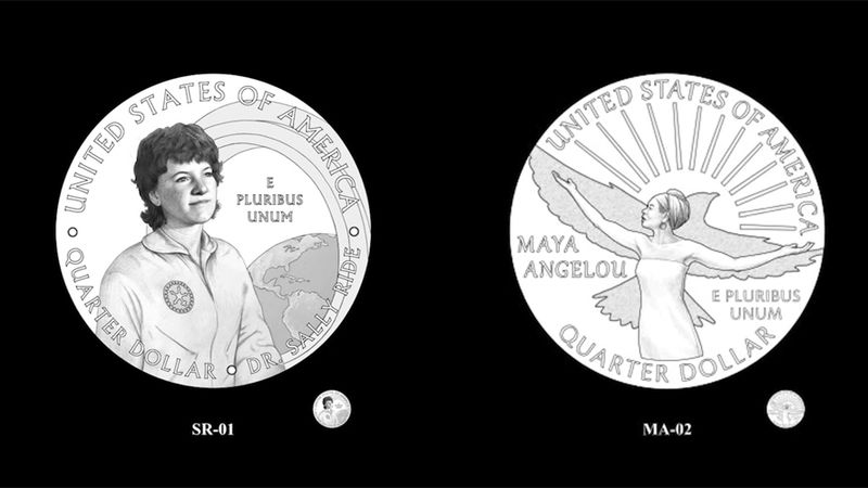 So far, poet Maya Angelou and astronaut Sally Ride have earned the honor. Coins with their...