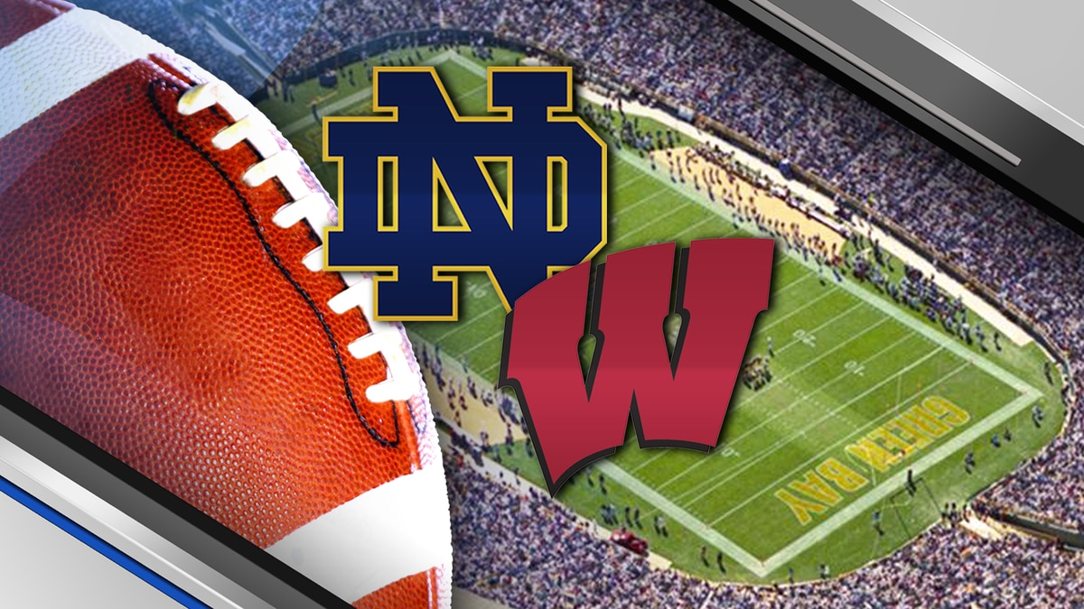 Notre Dame will play Wisconsin at Lambeau Field in 2026.