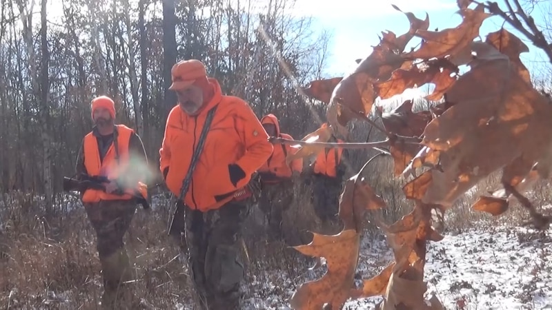 Deer hunters returning to camp in Northern Wisconsin last season.