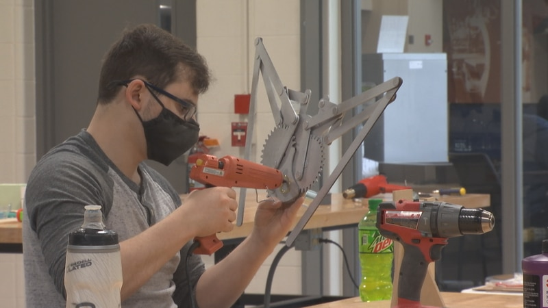 NWTC students finish projects for their Prototype and Design class. In the fall, the college is...