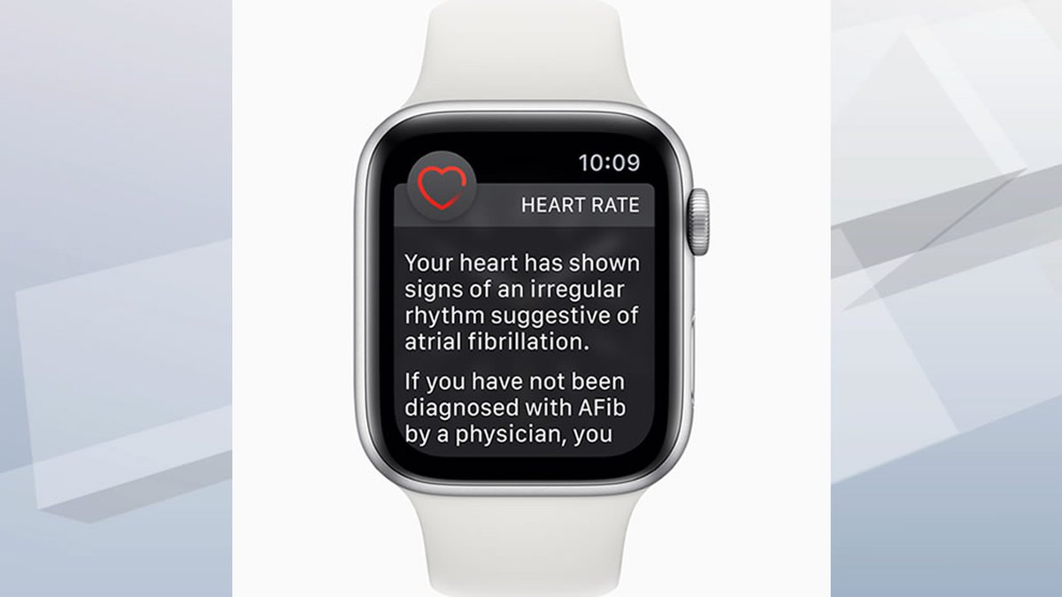 Apple Watch abnormality detected warning (image credit: Apple)