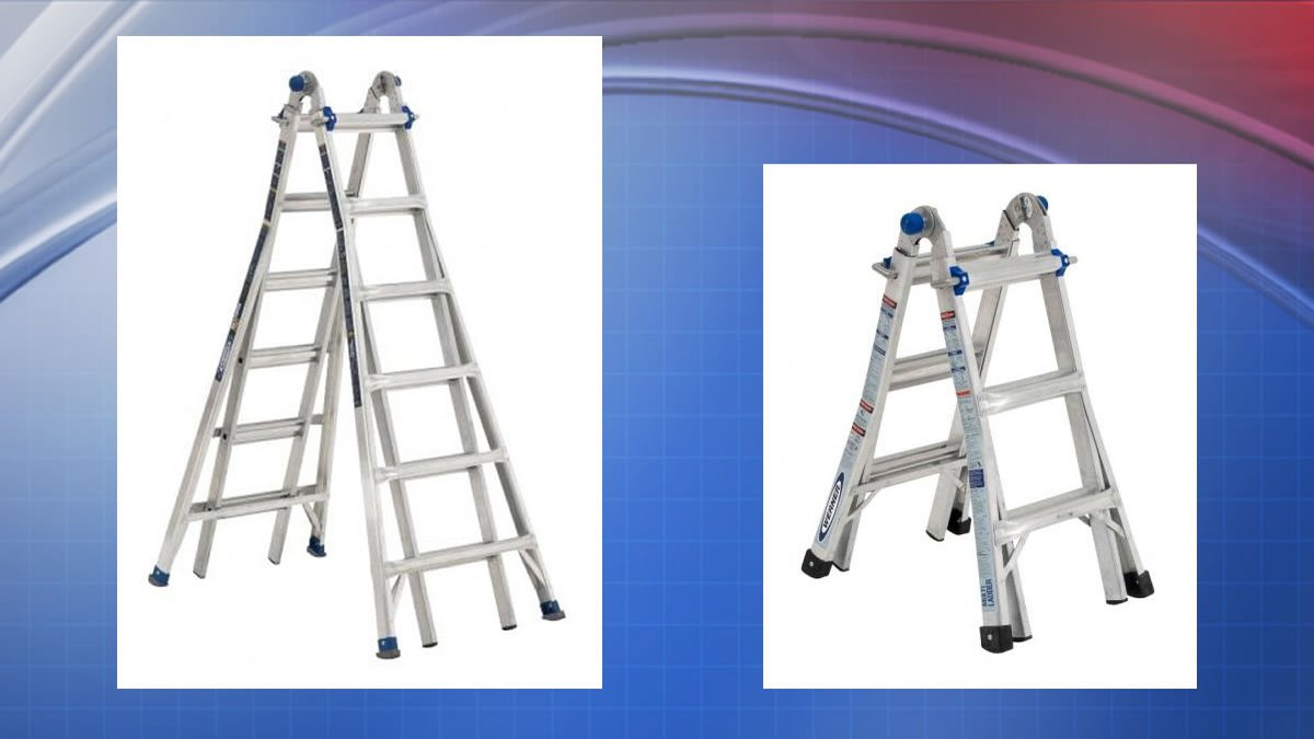 Werner telescoping ladders (Consumer Product Safety Commission photos)