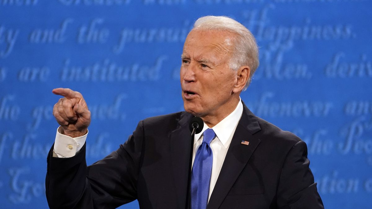 Democratic presidential candidate former Vice President Joe Biden speaks during the second and...