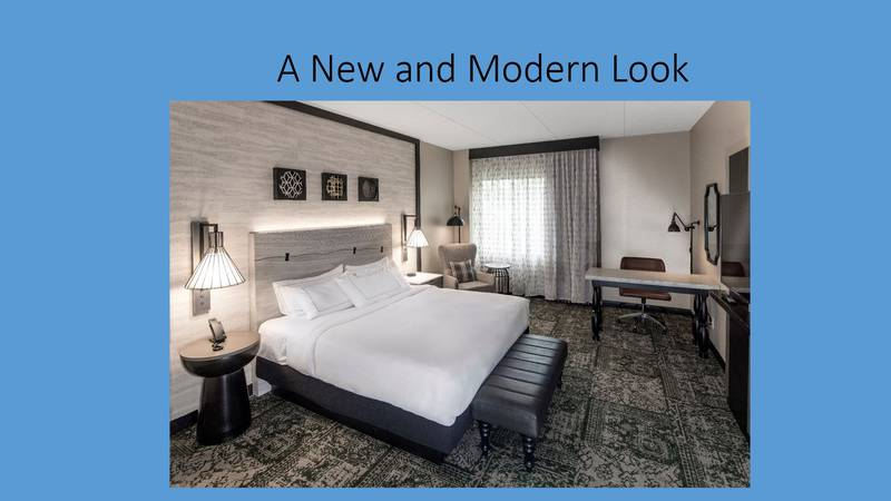 The new new and modern look of the soon-to-be Hilton Appleton Paper Valley Hotel.