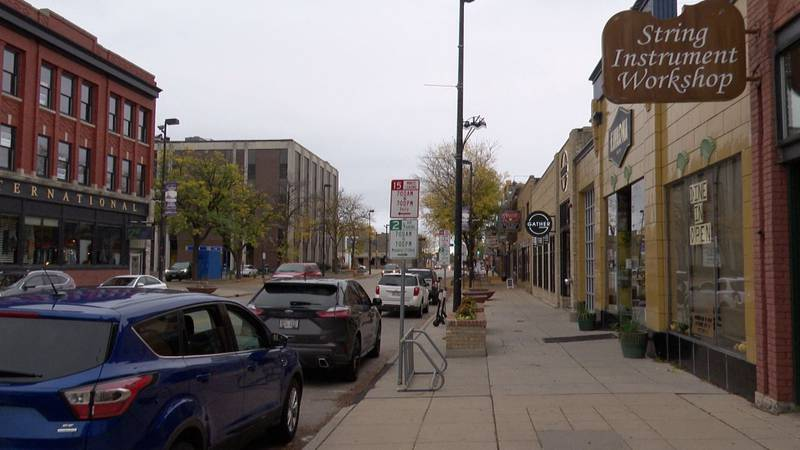 Downtown Broadway in Green Bay.