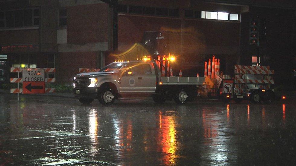 Flooding on University Avenue in Green Bay