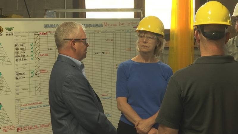 Sen. Tammy Baldwin, (D) Wisconsin, was in  Green Bay visiting a manufacturing facility and...