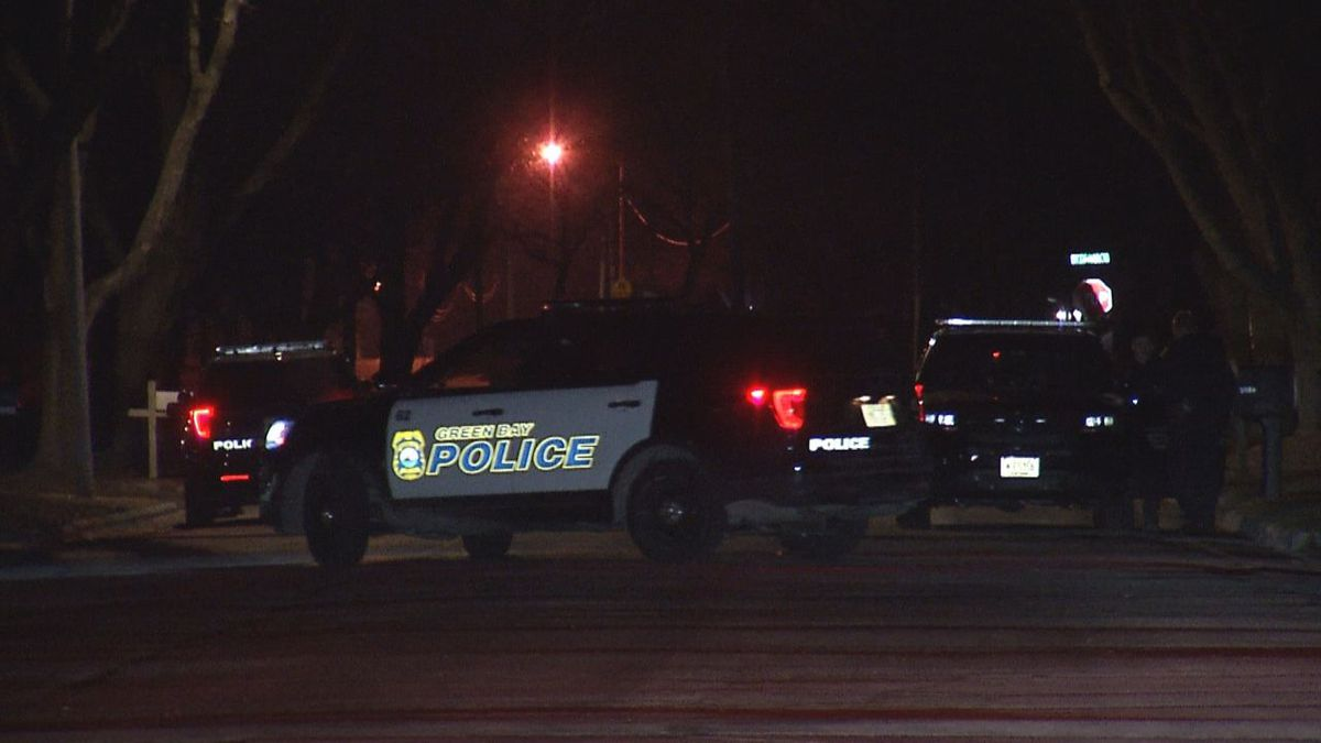 Police investigate a possible drive-by shooting on Green Bay's east side. March 23, 2021.