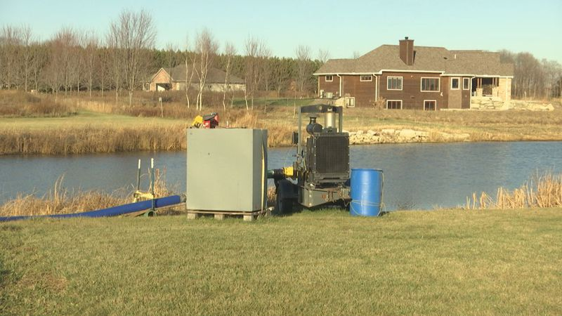 Several homes in the town of Chase located in Oconto County are being flooded.