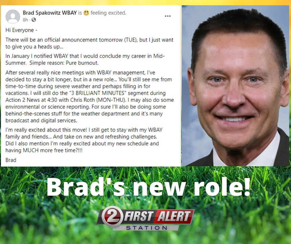 Brad Spakowitz has a new role at WBAY-TV!
