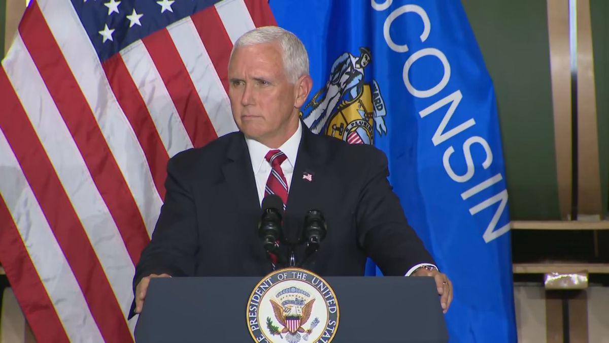 Vice President Mike Pence campaigns in southern Wisconsin